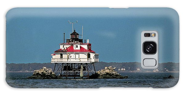 Thomas Point Shoal Light Galaxy Case by Sally Weigand