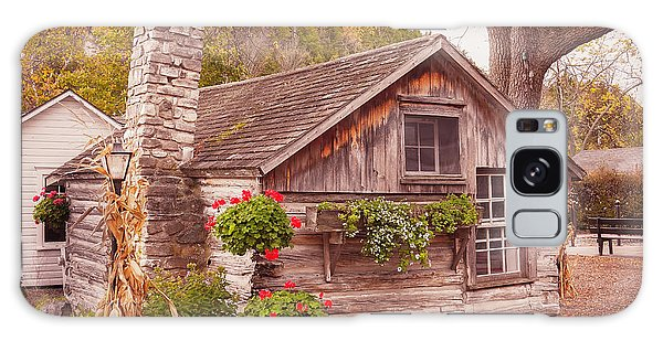 Galaxy Case featuring the photograph Thorp Cabin Door County Wisconsin by Heidi Hermes