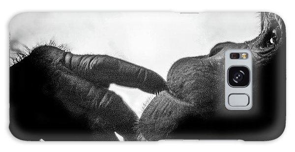 Thoughtful Chimpanzee Galaxy Case by Marius Sipa