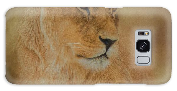 Thoughtful Lioness - Square Galaxy Case