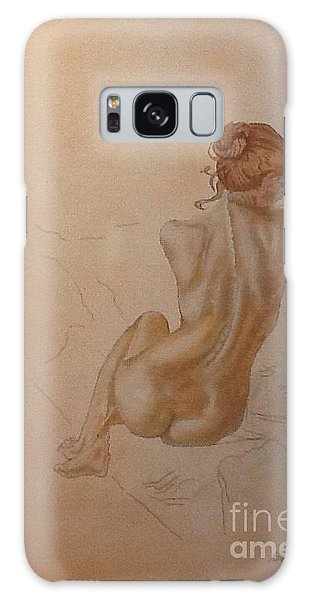 Thoughtful Nude Lady Galaxy Case