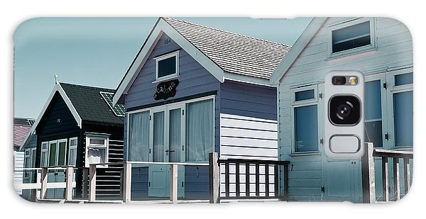 Three Beach Huts Blue Galaxy Case