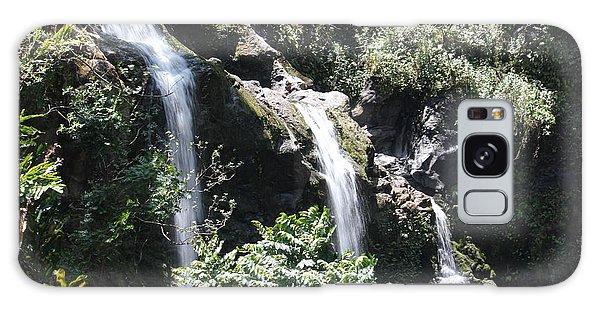 Upper Waikani Falls Galaxy Case