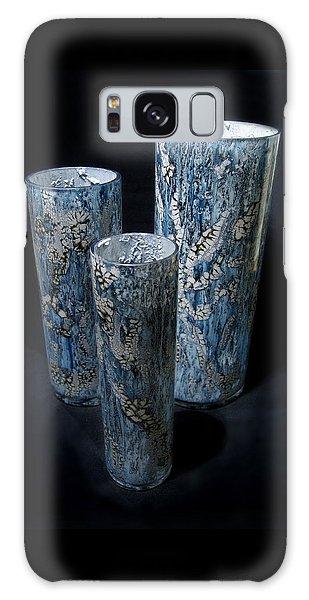 Three Blue Cylinders Galaxy Case