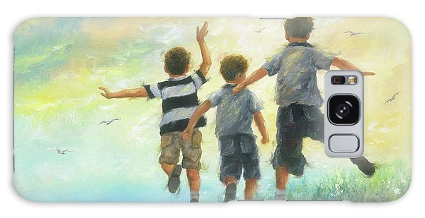 Brothers Galaxy Case - Three Brothers Leaping by Vickie Wade