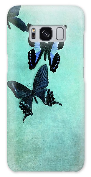 Three Butterflies Galaxy Case