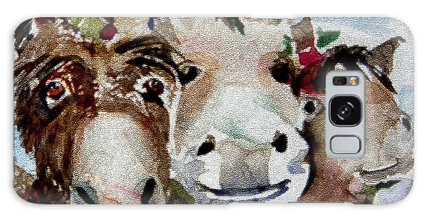 Three Christmas Donkeys Galaxy Case by Mindy Newman