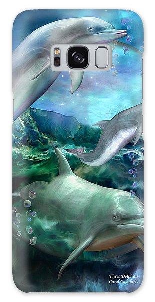 Three Dolphins Galaxy Case