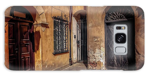Three Doors In Warsaw Galaxy Case by Carol Japp