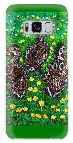 Three Ducklings Galaxy Case