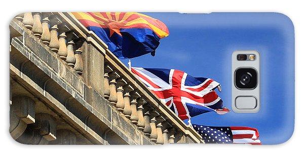Three Flags At London Bridge Galaxy Case