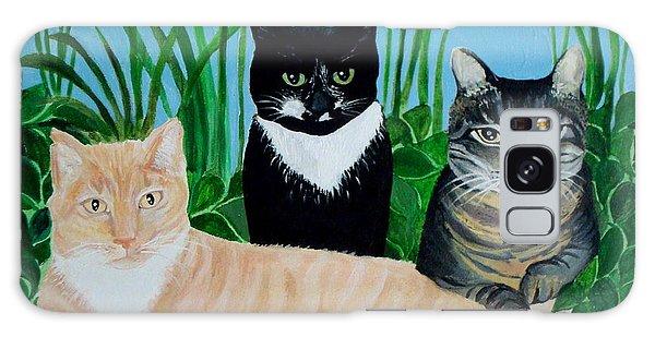 Three Furry Friends Galaxy Case