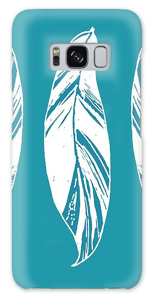 Three Ginger Leaves - Teal Galaxy Case