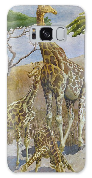 Three Giraffes Galaxy Case