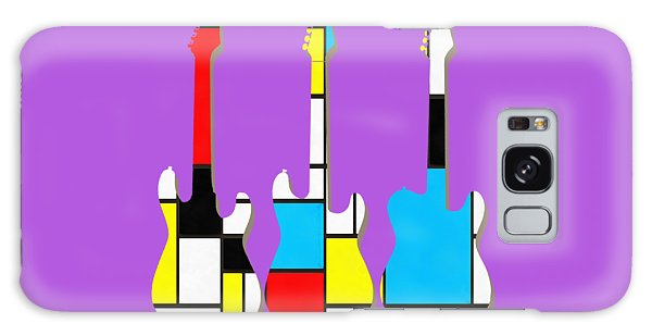 Three Guitars Modern Tee Galaxy Case by Edward Fielding