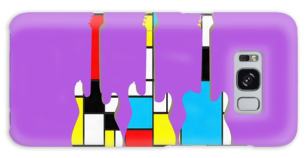 Guitar Galaxy Case - Three Guitars Modern Tee by Edward Fielding