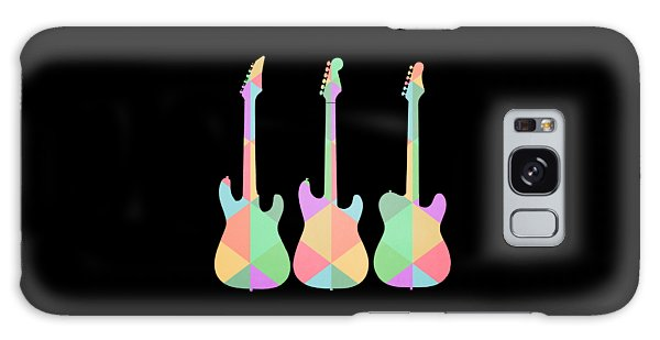 Guitar Galaxy Case - Three Guitars Triangles Tee by Edward Fielding