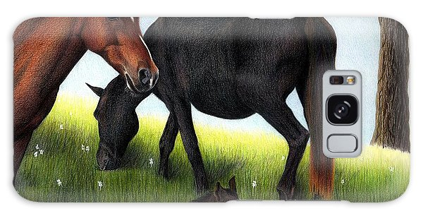 Three Horses Galaxy Case