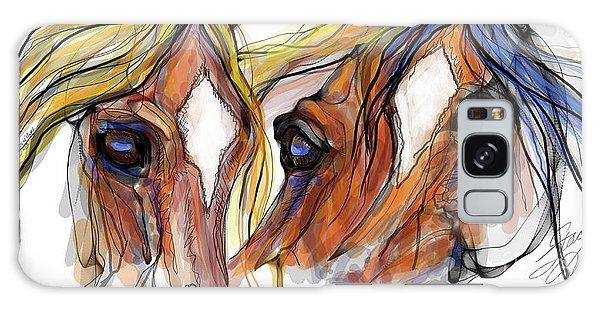 Three Horses Talking Galaxy Case
