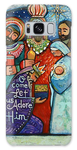 Three Kings O Come Let Us Adore Him Galaxy Case