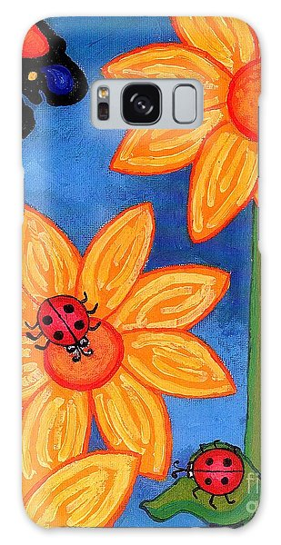 Three Ladybugs And Butterfly Galaxy Case by Genevieve Esson