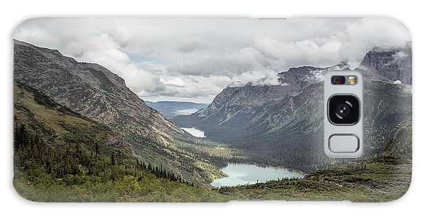 Galaxy Case featuring the photograph Three Lakes Viewed From Grinnell Glacier by Belinda Greb