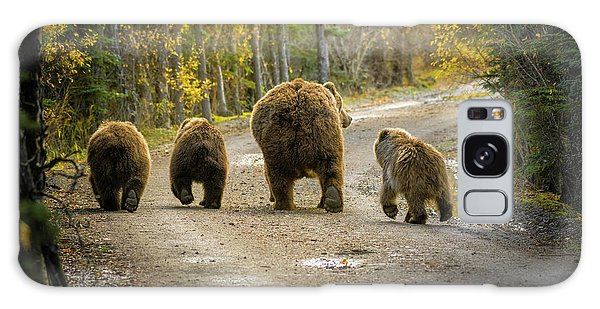 Three Little Bears And Mama Galaxy Case