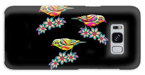 Song Birds Galaxy Case - Three Little Birds by Mick Flodin