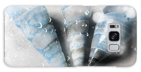 Trumpet Galaxy S8 Case - Three Little Trumpet Snail Shells Over Gray by Jorgo Photography - Wall Art Gallery
