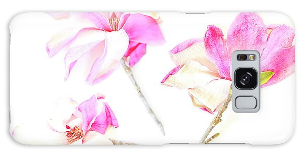 Three Magnolia Flowers Galaxy Case by Linde Townsend