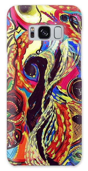 Angel And Dragon Galaxy Case by Marina Petro