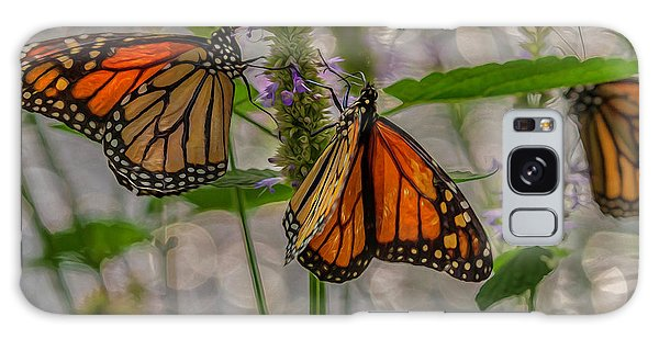 Three Monarch Butterfly Galaxy Case