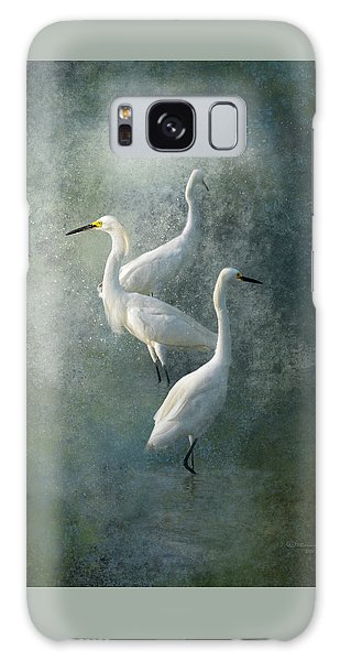 Egret Galaxy Case - Three Of A Kind by Marvin Spates