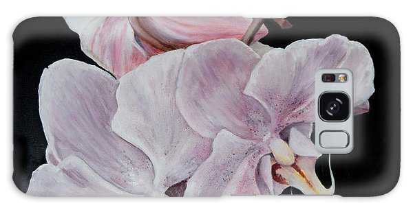 Three Orchids Galaxy Case by Sandra Nardone