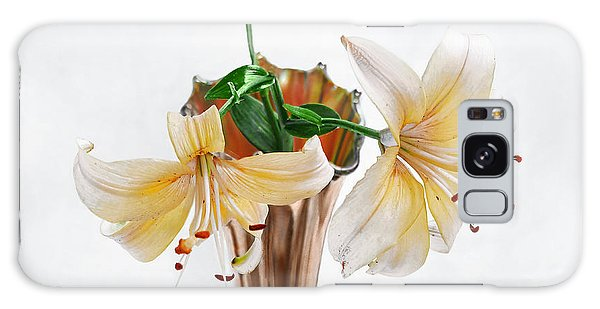 Three Pale Gold Lilies Still Life Galaxy Case
