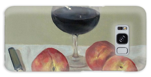 Three Peaches, Wine And Knife Galaxy Case