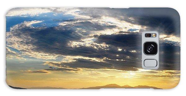 Three Peak Sunset Swirl Skyscape Galaxy Case