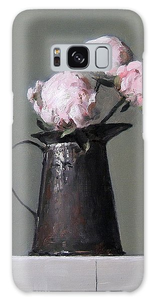 Three Peony Buds In Old Tin Can Galaxy Case