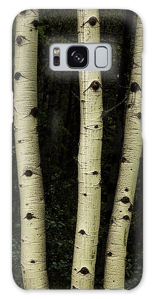 Galaxy Case featuring the photograph Three Pillars Of The Forest by James BO Insogna
