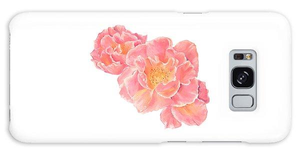 Three Pink Roses Galaxy Case