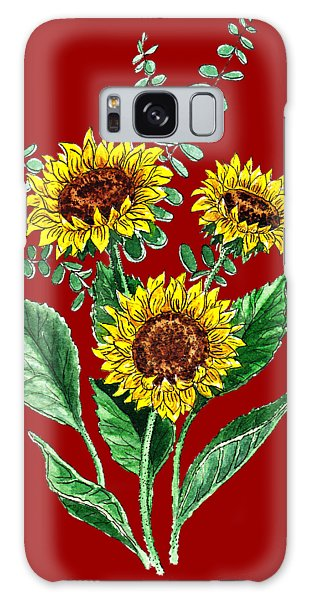 Country Living Galaxy Case - Three Playful Sunflowers by Irina Sztukowski