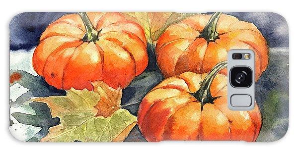 Three Pumpkins Galaxy Case