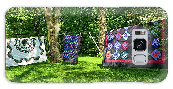 Three Quilts In The Breeze Galaxy Case