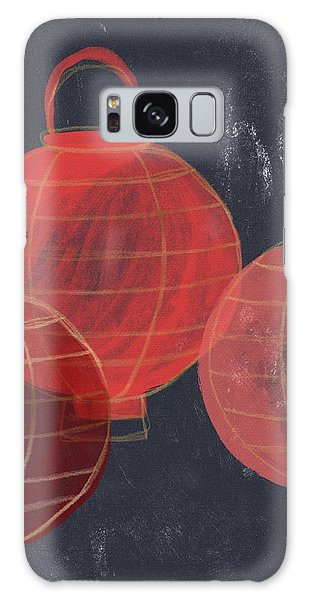 New Galaxy Case - Three Red Lanterns- Art By Linda Woods by Linda Woods