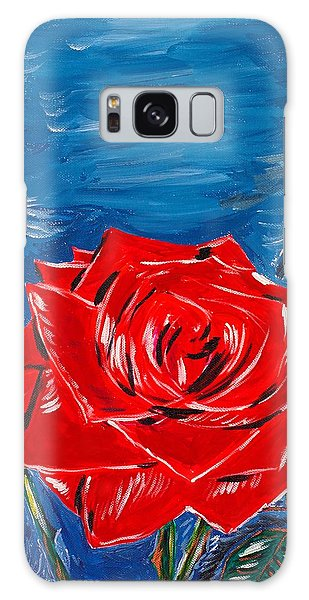 Three Red Roses Four Leaves Galaxy Case
