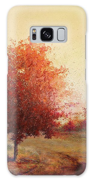 Three Red Trees Galaxy Case by Andrew King