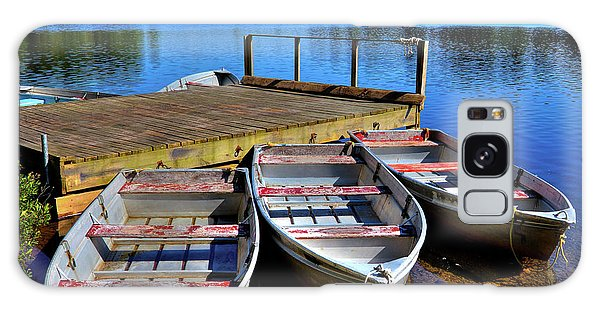 Three Rowboats Galaxy Case by David Patterson