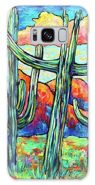 Three Saguaros Galaxy Case