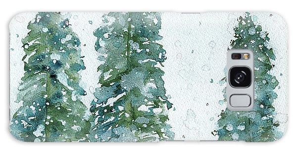 Three Snowy Spruce Trees Galaxy Case