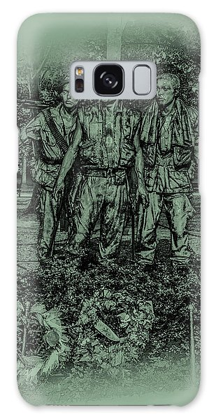 Galaxy Case featuring the photograph Three Soldiers Memorial by David Morefield
